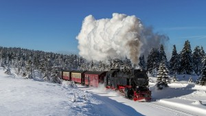 Brockenbahn der Harzer Schmalspurbahnen im Winter © Christian Spiller - fotolia